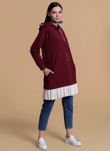 Pearly Sweatshirt Bordo